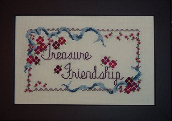 Country Garden Stitchery Treasured Friendship