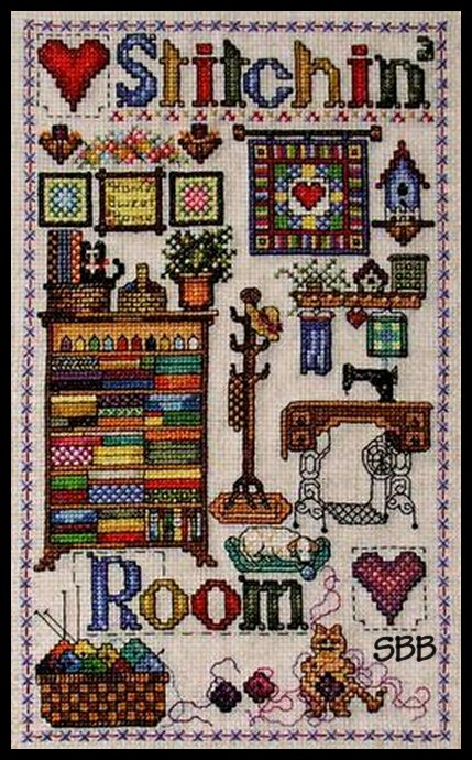 Cross-Point Designs Stitchin' Room