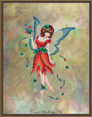 Cross Stitching Art Anneke - The Tulip Fairy