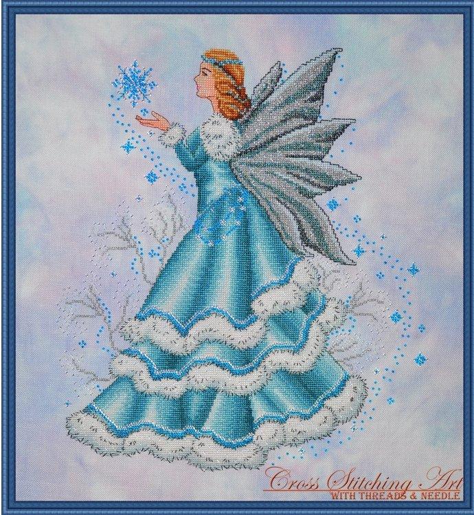 Cross Stitching Art Celine, The Winter Fairy