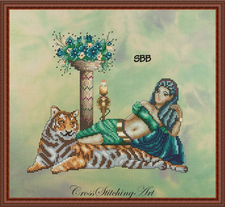 Cross Stitching Art Cleopatra