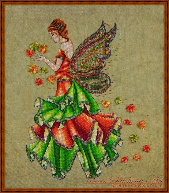 Cross Stitching Art Fallyn The Fall Fairy