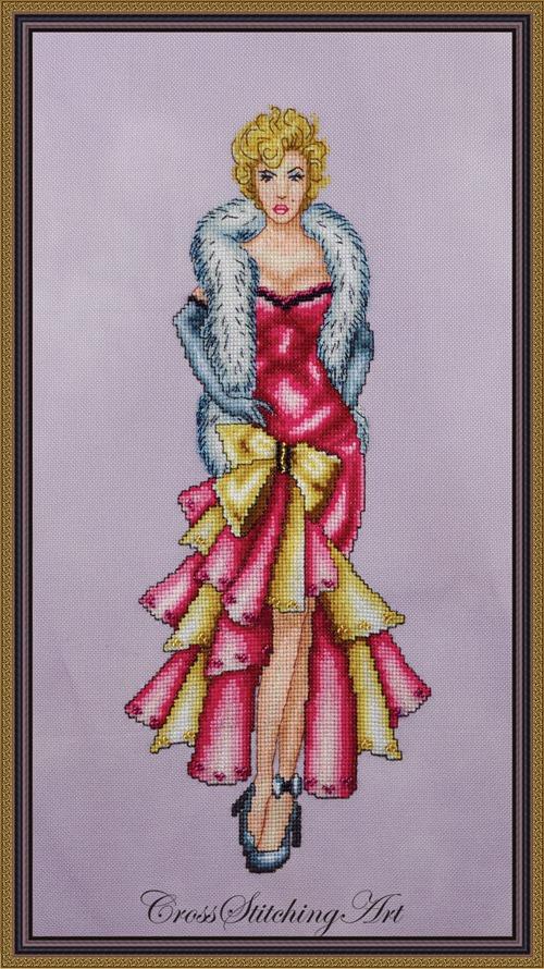 Cross Stitching Art Marilyn: It's Me, Sugar!