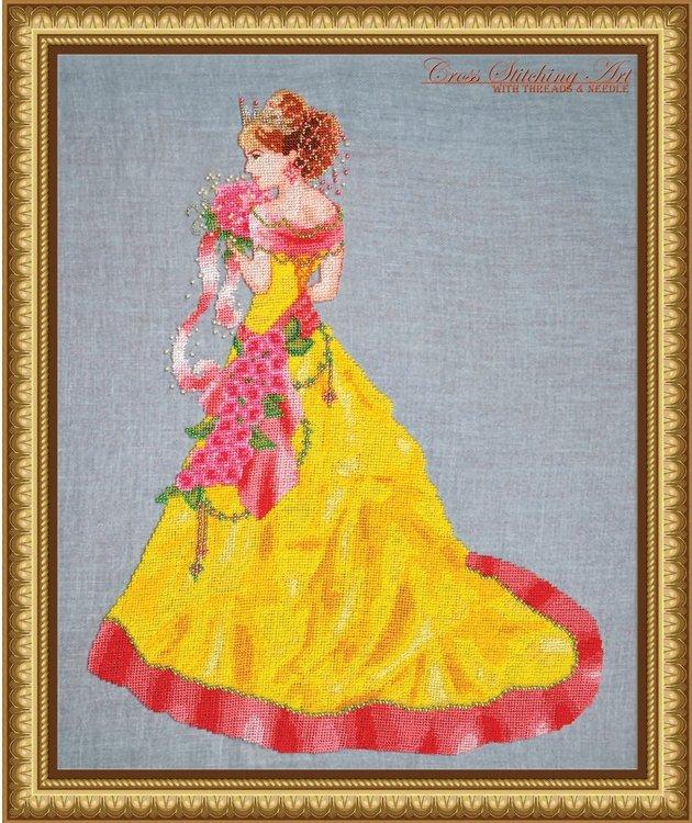 Cross Stitching Art Milady Of Spring