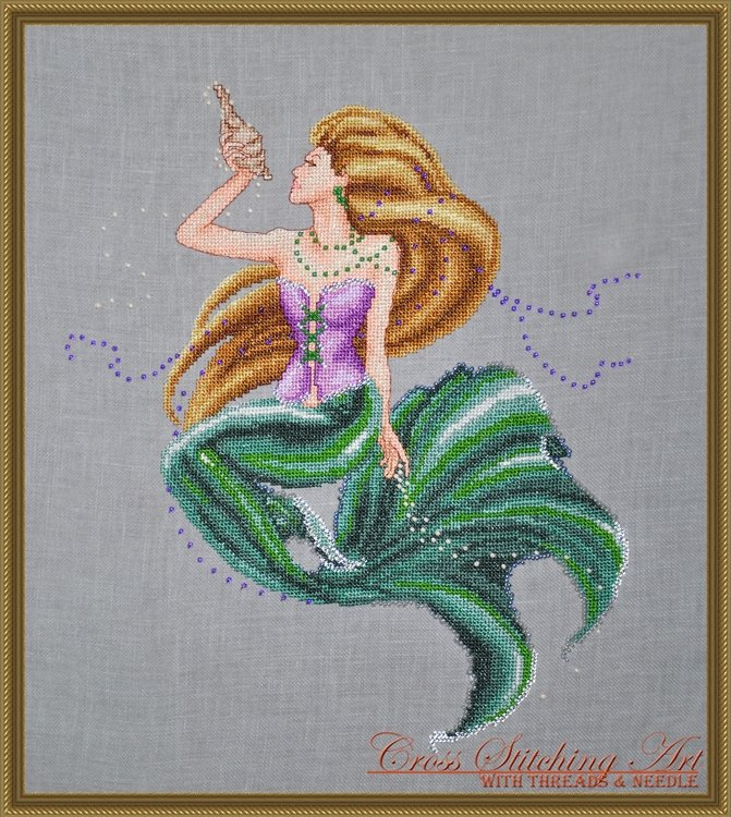 Cross Stitching Art Sea Treasures