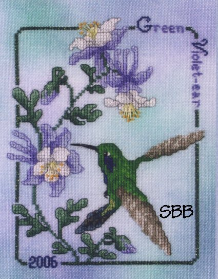 Crossed Wing Collection2006 Green Violet-ear Hummingbird
