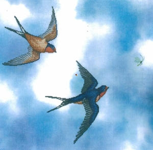 Crossed Wing Collection Barn Swallows