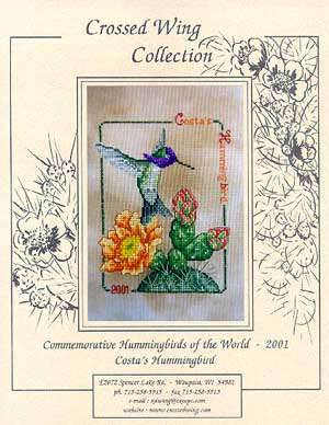 Crossed Wing Collection2001 Costa's Hummingbird