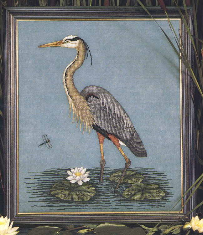 Crossed Wing Collection Great Blue Heron