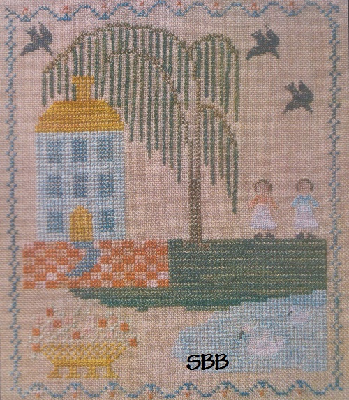 Clearance Dames Of The Needle Blue House Sampler