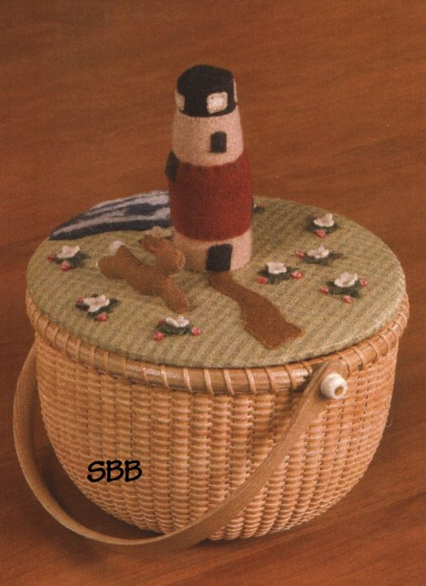 Clearance Dames Of The Needle Nantucket Strawberries Basket Topper