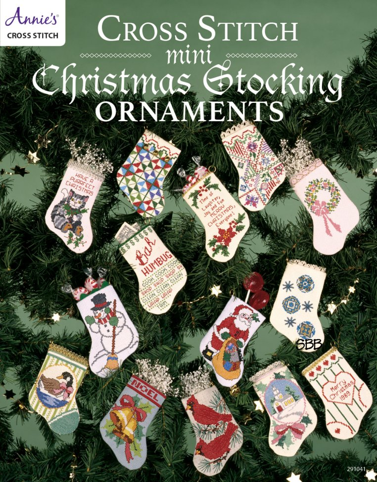 Annie's Cross Stitch Mini Stocking Ornaments