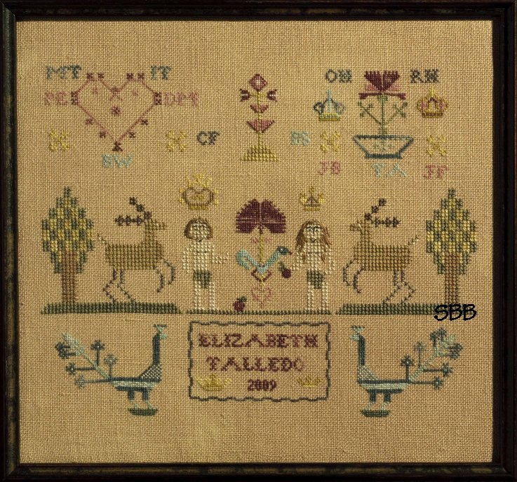 Dames of the Needle Adam & Eve Sampler