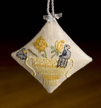Dames of the Needle Bird in Basket Scissor Fob