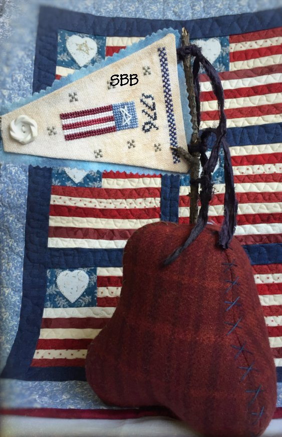 Death By Thread 1776 Pennant & Embroidered Bell