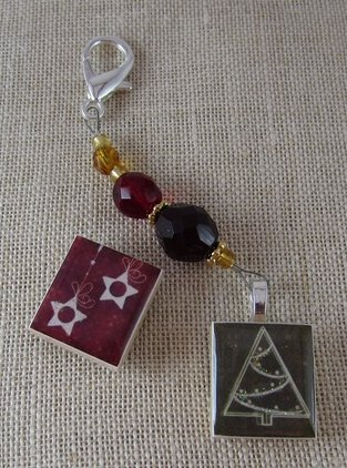 Designs By Lisa Limited Editions Christmas Tree & Hanging Star Fob & Magnet Set