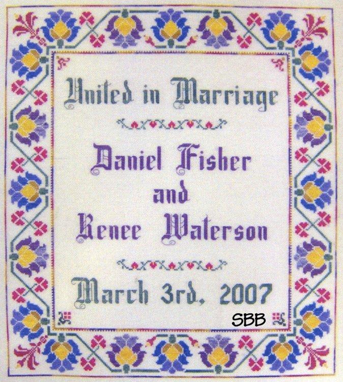Dinky-Dyes Designs Floral Wedding Sampler