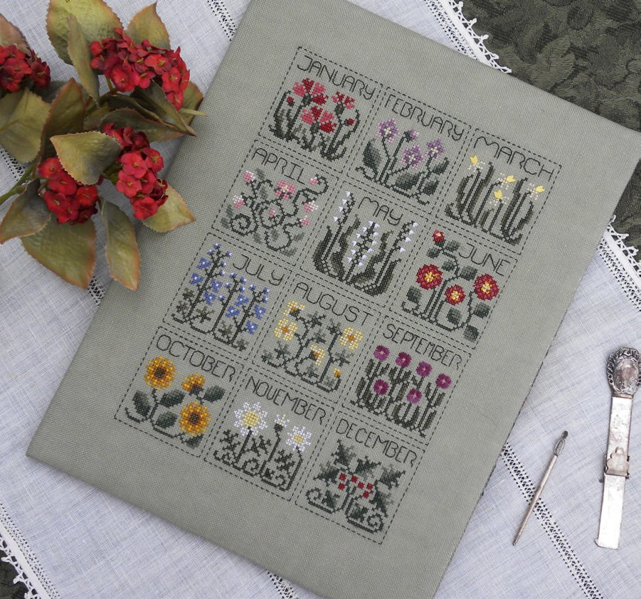 The Drawn ThreadDR183 A Year of Flowers