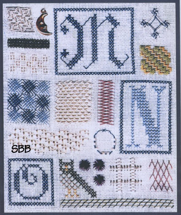 The Drawn Thread DR144 Sampler of Stitches #5 MNO