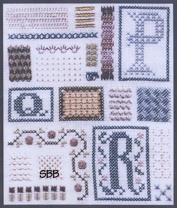 The Drawn Thread DR145 Sampler of Stitches #6 PQR