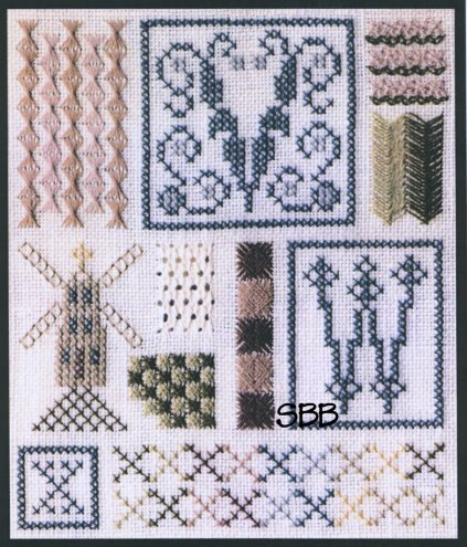 The Drawn Thread DR147 Sampler of Stitches #8 VWX
