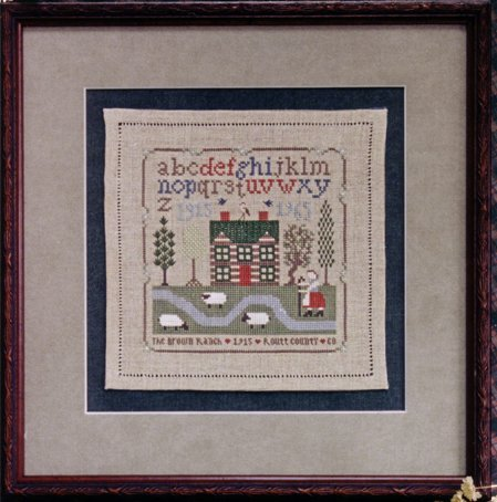 The Drawn Thread DR213 The Brown Ranch Sampler