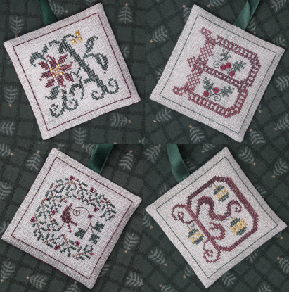 The Drawn Thread DR224 Alphabet Ornaments One ~ ABCD