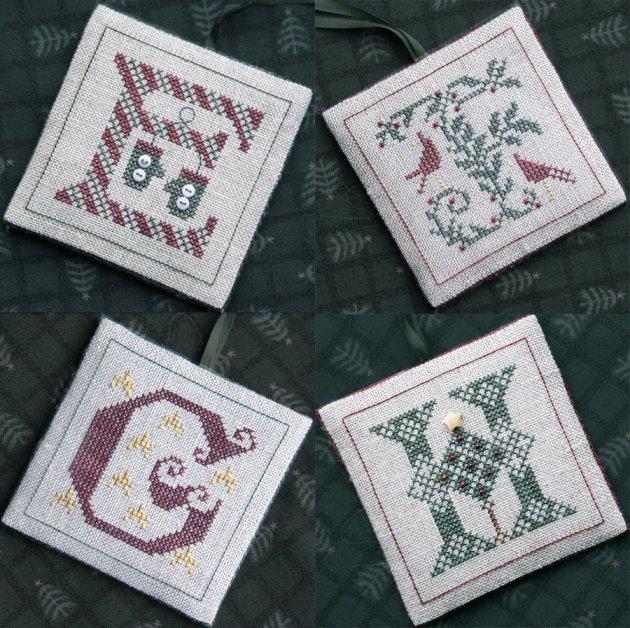 The Drawn Thread DR228 Alphabet Ornaments Two ~ EFGH
