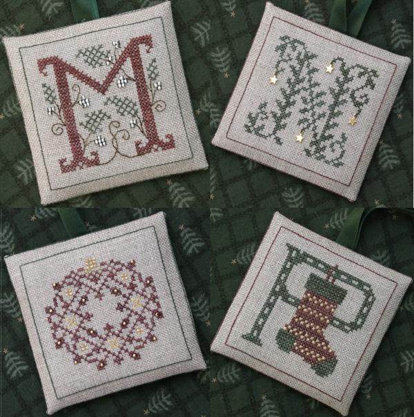 The Drawn Thread DR235 Alphabet Ornaments ~ MNOP
