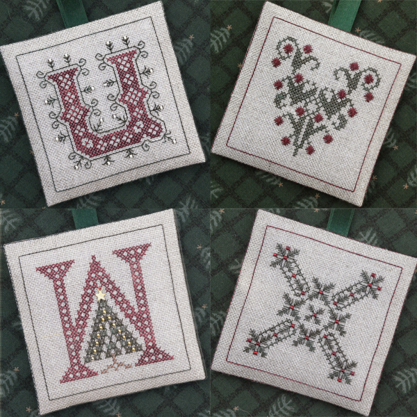 The Drawn Thread DR239 Alphabet Ornaments ~ UVWX