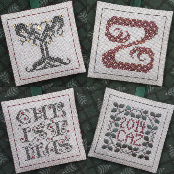 The Drawn Thread DR240 Alphabet Ornaments ~ YZ