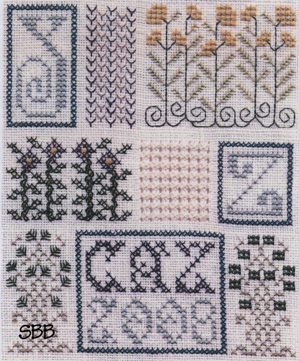 The Drawn Thread DR115 Sampler 0f Stitches Part #9 Y & Z