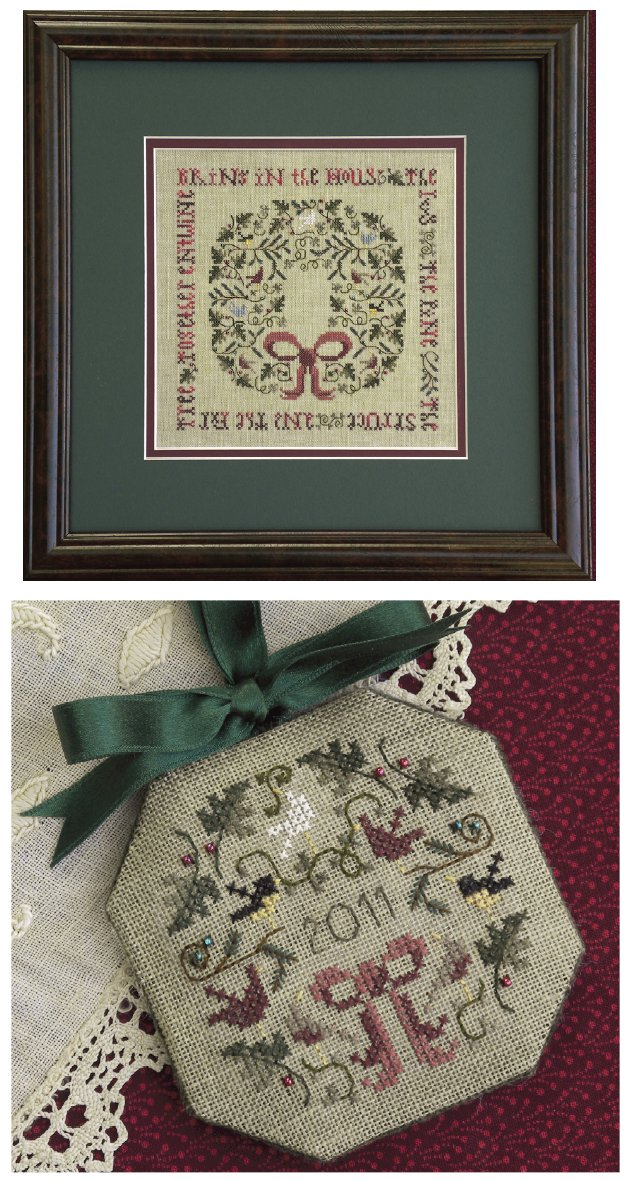 The Drawn ThreadDR174 The Holly & the Ivy Sampler & Ornament