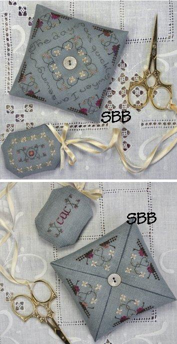 The Drawn Thread Pin Pillow & Scissors Fob