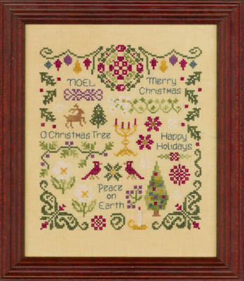 Elizabeth's Designs Antique Christmas Sampler