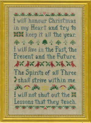 Elizabeth's Designs Christmas Spirit Sampler