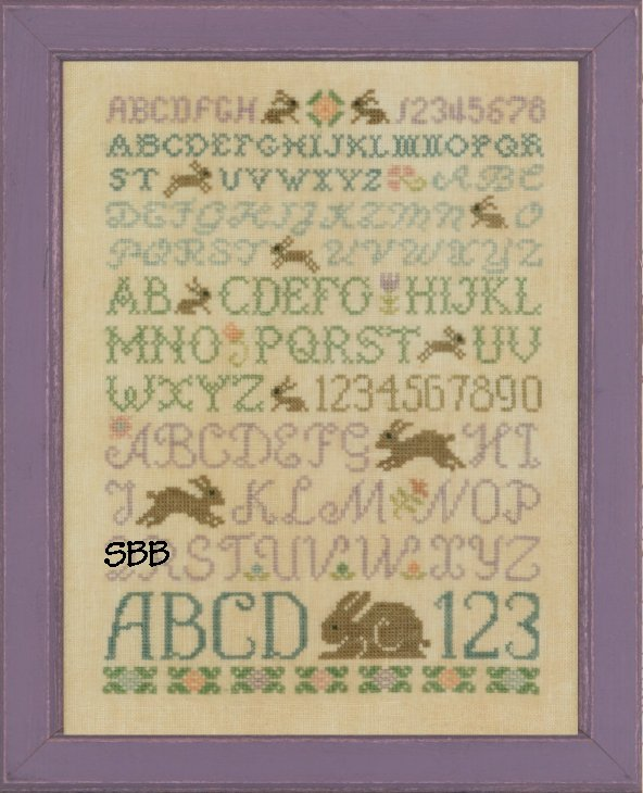 Elizabeth's Designs Rustic Rabbit Sampler