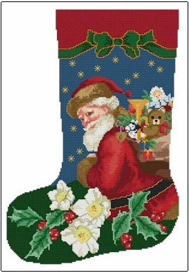 Ellen Maurer-Stroh Christmas Rose Stocking