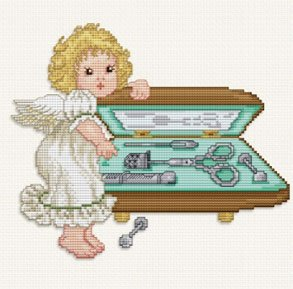 Ellen Maurer  StrohStitching Angel With Sewing Set