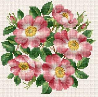 Ellen Maurer  StrohWild Roses Bouquet