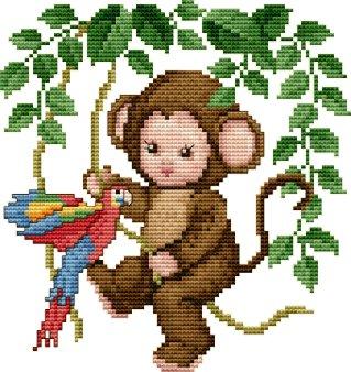 Ellen Maurer-Stroh Monkey Baby in the Jungle