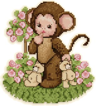 Ellen Maurer-Stroh Monkey Baby in the Rose Garden