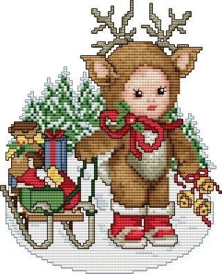 Ellen Maurer-Stroh Reindeer Baby