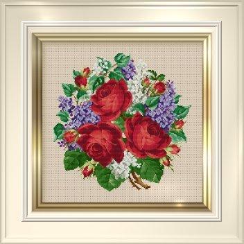 Ellen Maurer-Stroh Roses & Lilacs Bouquet