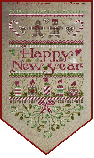 Clearance Filigram A34 Happy New Year Banner