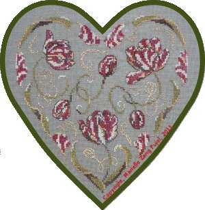Clearance Filigram A53 Tulip Heart