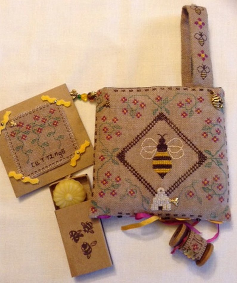 Fern Ridge Collections Pocket Full Of Bees Sewing Pocket