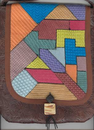 Fern Ridge Collections Puzzled Purse Needlepoint