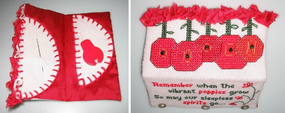Fern Ridge Collections Remember The Poppies Needle Case