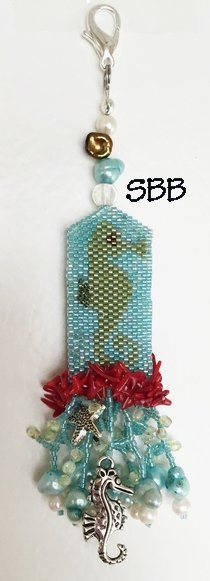 Fern Ridge Collections Sally's Seahorse Fob
